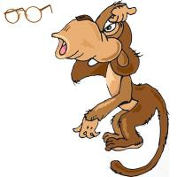 картинки к басне мартышка и очки