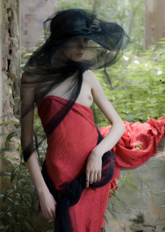 красивые фото рыжих девушек в вуале