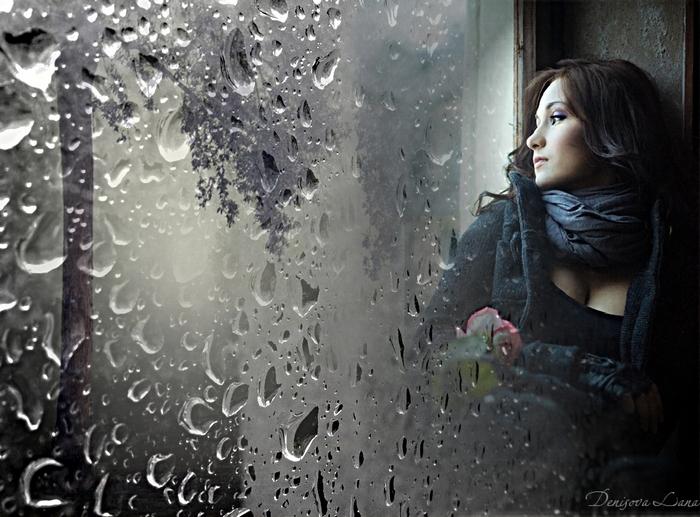 Фото дождя за окном осень