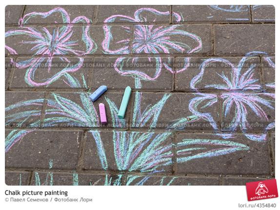 Рисунки мелками на асфальте для начинающих фото