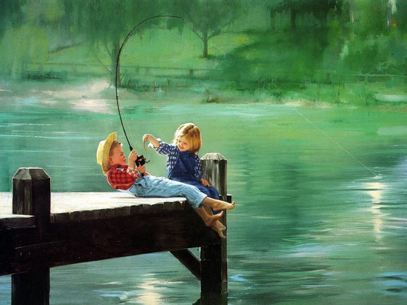 мальчик ловит рыбу сочинение