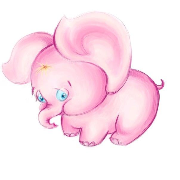 Днем, картинки для детей розовый