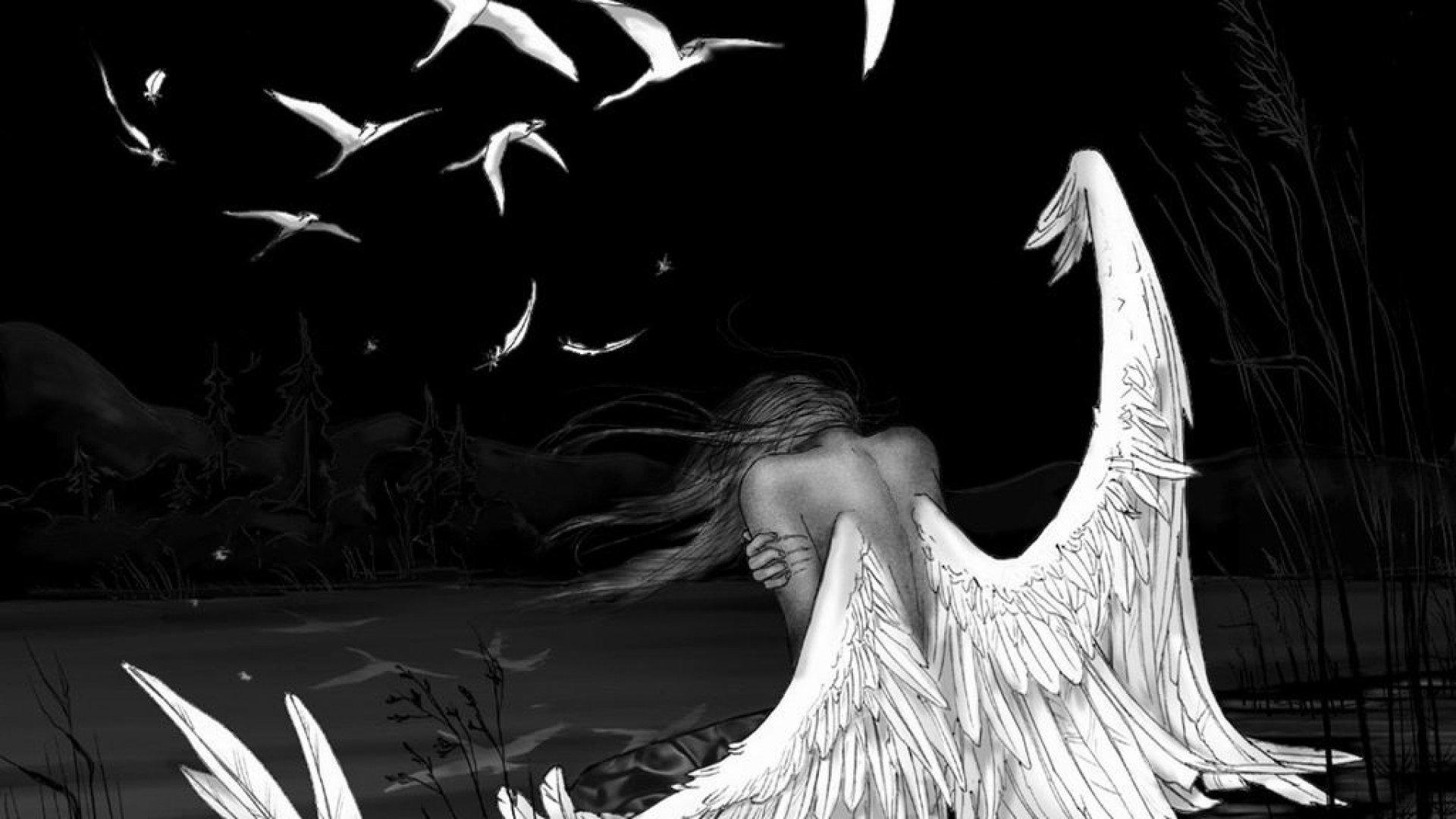 фото ангела тёмного