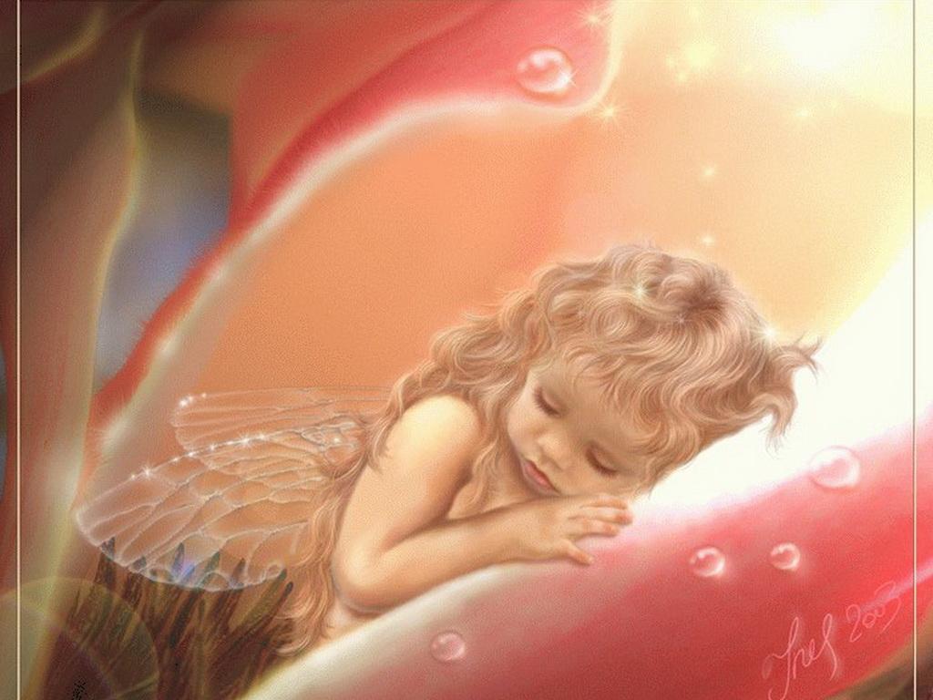 Открытки спящий ангел, день