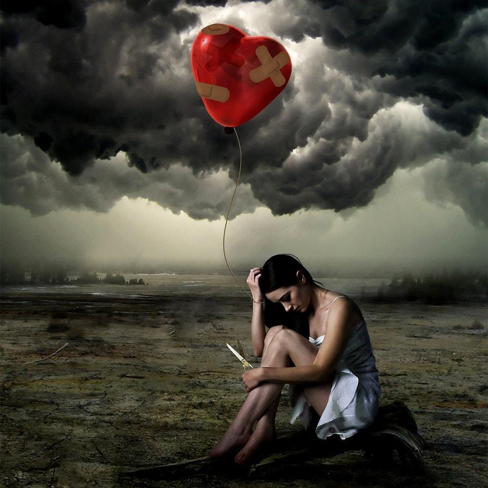 Красивый фото о несчастной любви
