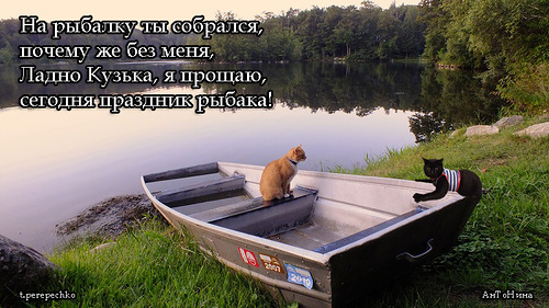 собираюсь я на утреннюю рыбалку