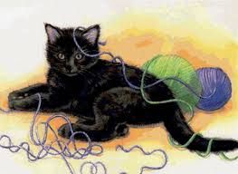 """Предпросмотр схемы вышивки  """"игра """". игра, котёнок, кошка, животное, предпросмотр."""