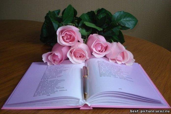 Красивое поздравление в книге