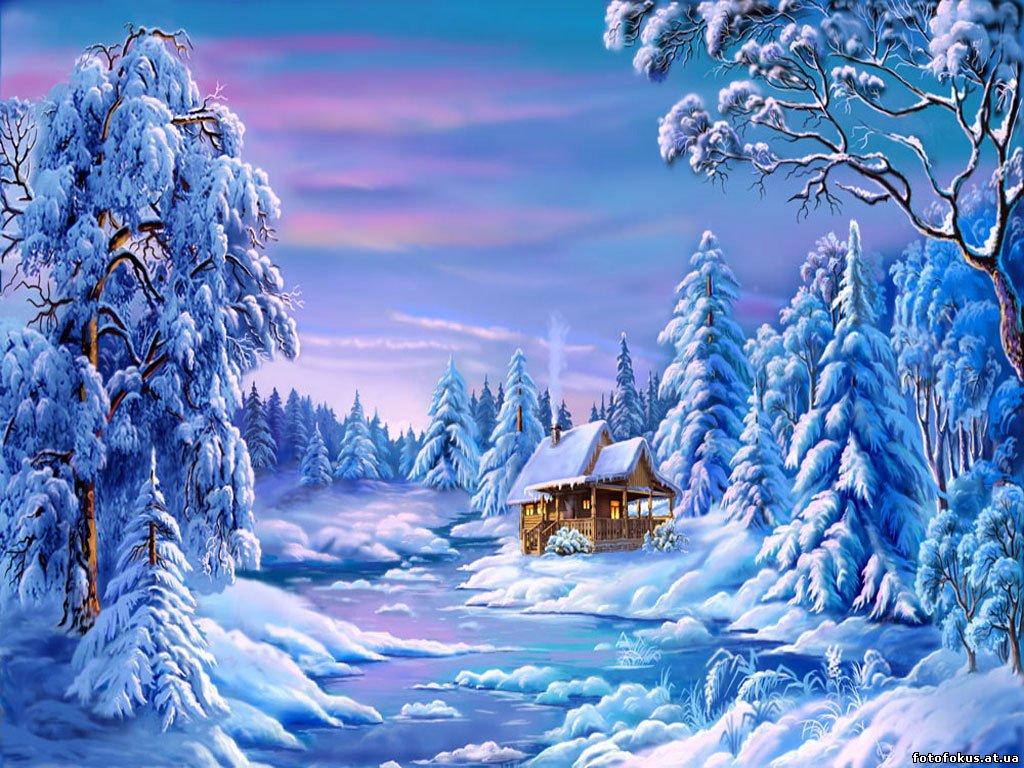 Открытки с природой новогодние, лучшей