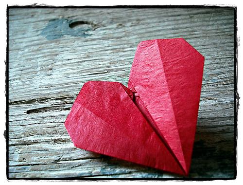 Подарите ей оригами сердце!