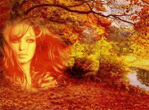 Картинки девица осень
