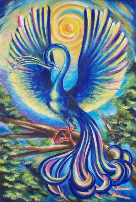 вот синяя птица удачи в картинках льду