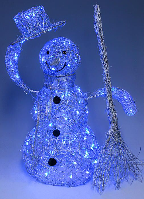 Светящиеся снеговики своими руками