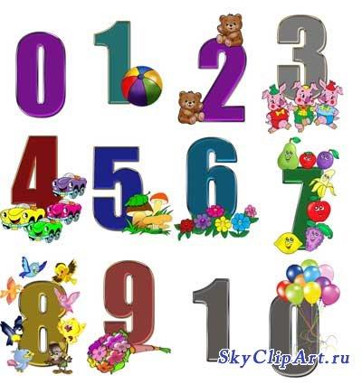 детские рисунки с цифрой 10