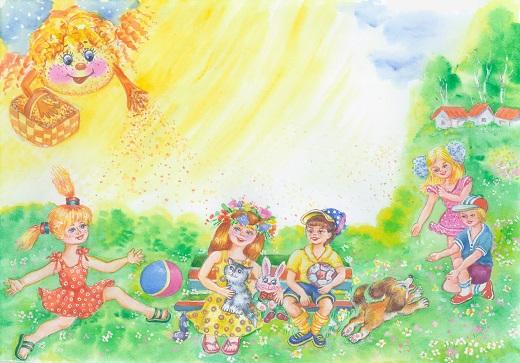 Картинка веснушки на празднике весны перед