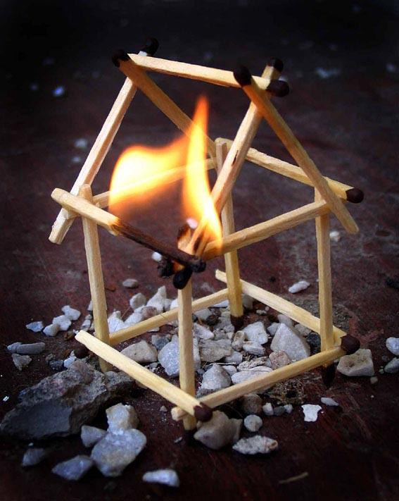 Как сделать огонь без спичек в домашних