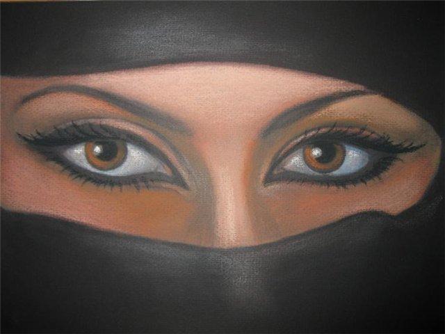 Восточные глаза нарисовать