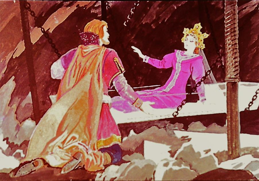 картинки к сказке сказка о семи богатырях прошли конца