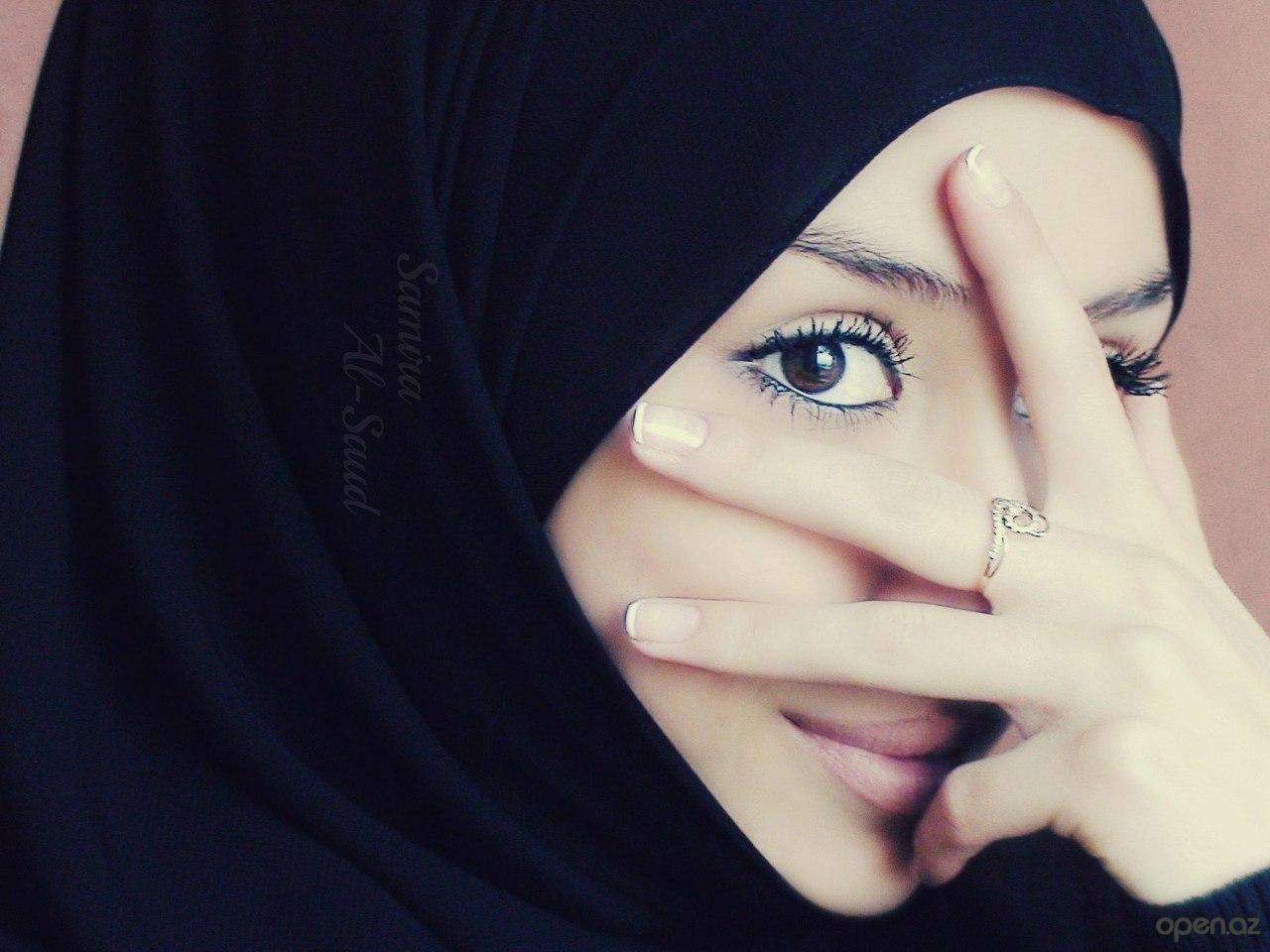 Исламские картинки девушки с хиджаба с надписями