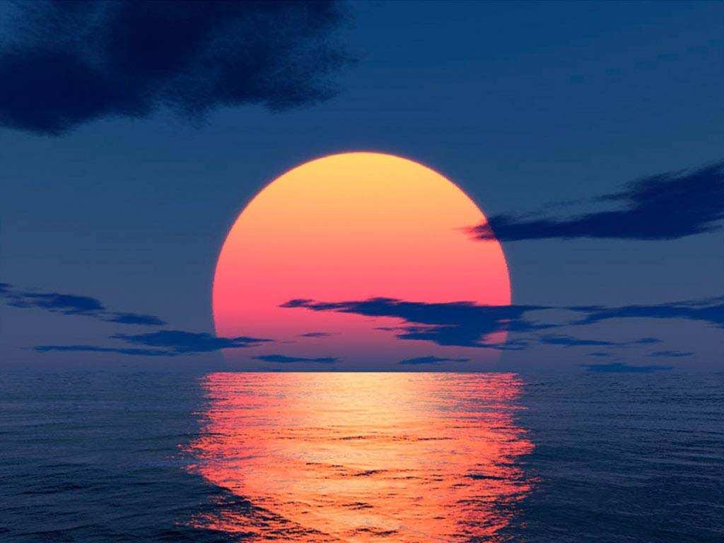 Вода и закат