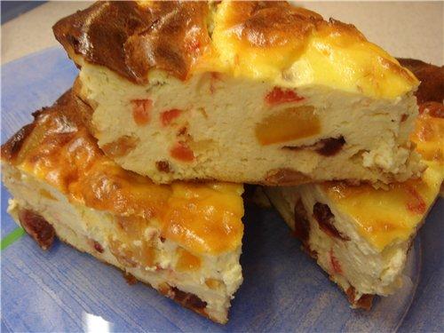 Рецепт торта с фруктами и сметаной и желатином
