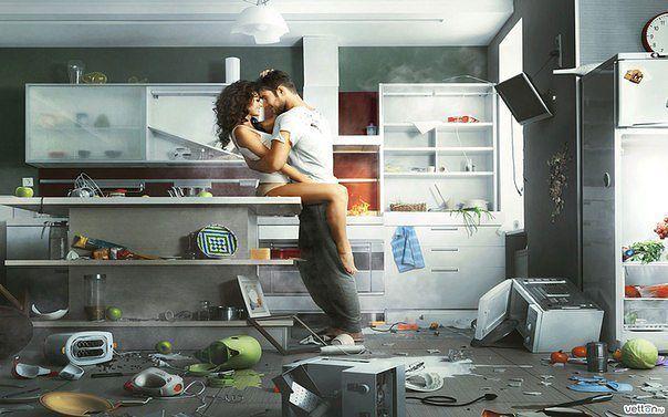секс картинки на кухонный