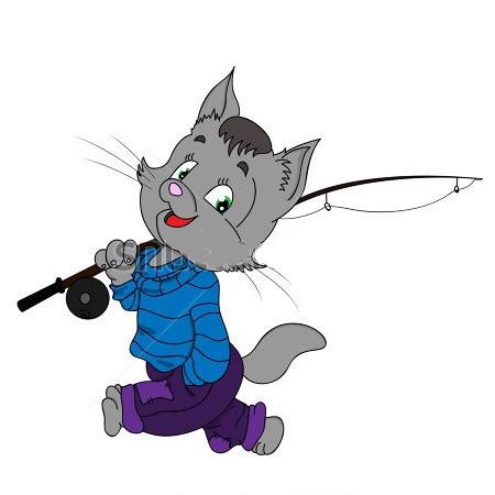 у кота матроскина который ловил рыбу