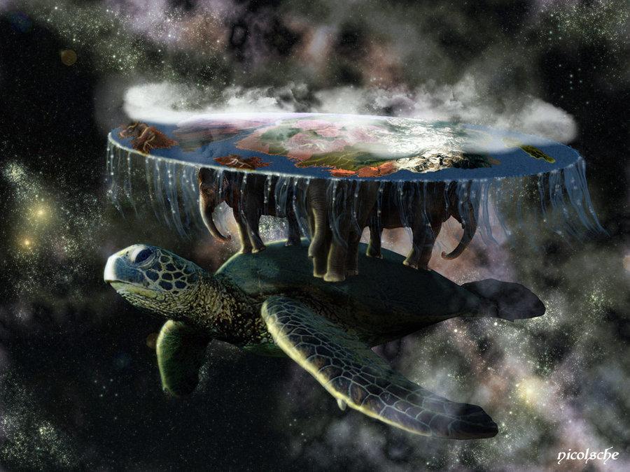 жизненно, что теория возникновения земли слоны черепахи сделать