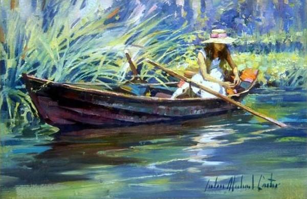 как переплыть реку на одной лодке двоим людям