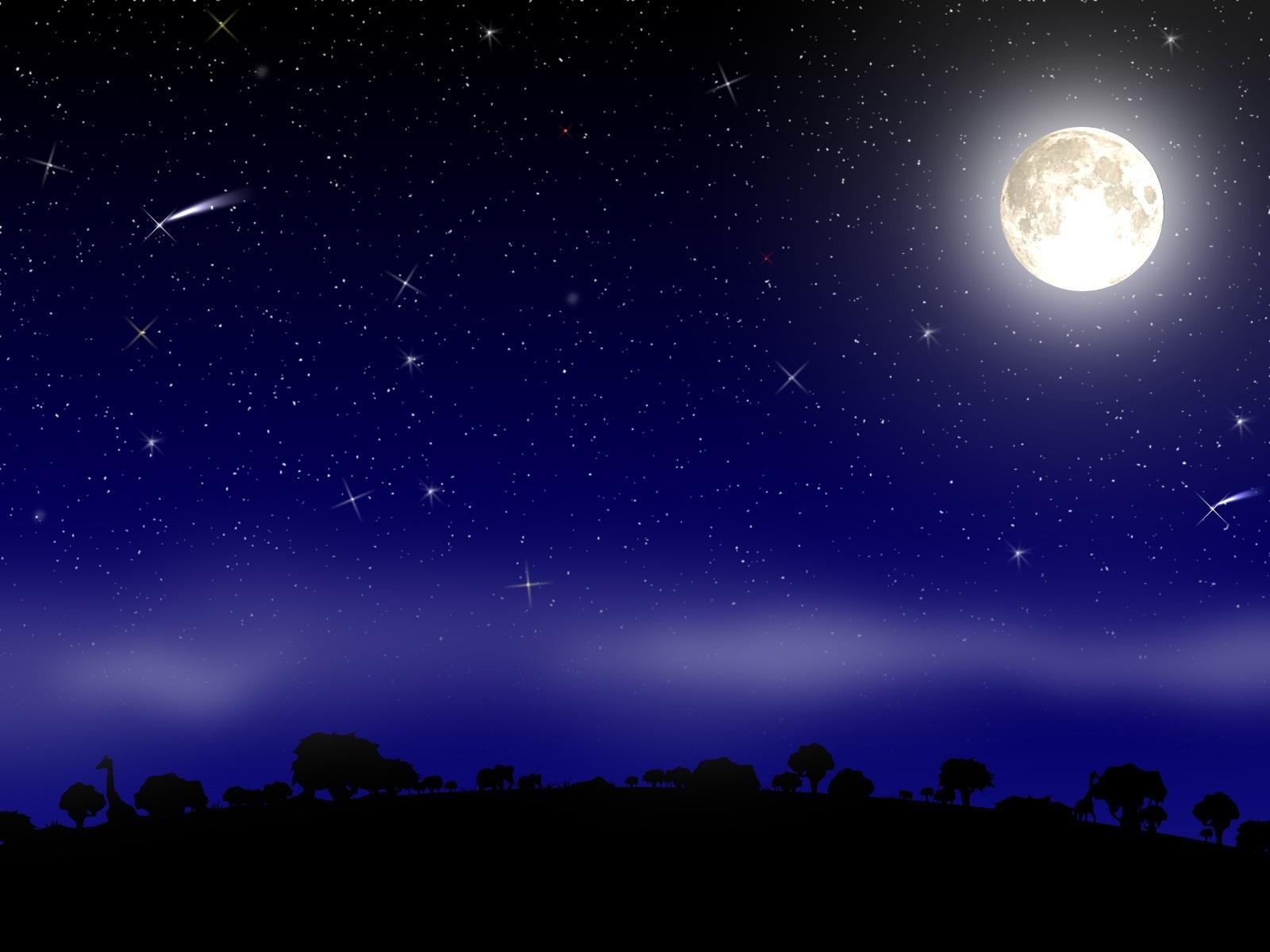Новогодняя, звездная ночь картинки