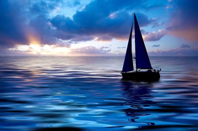 как нарисовать лодку на небе