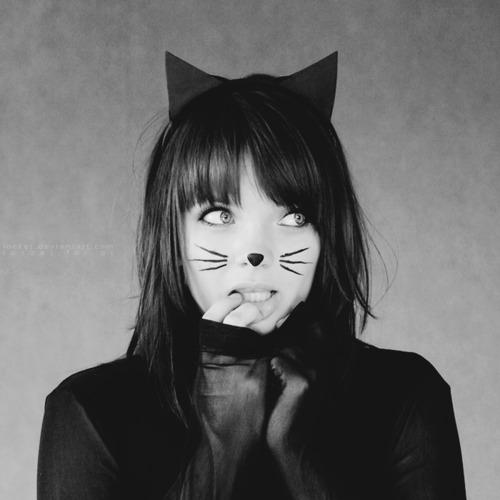 кошки картинки девушки