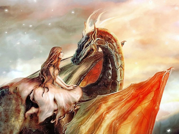 дракон и принцесса картинки