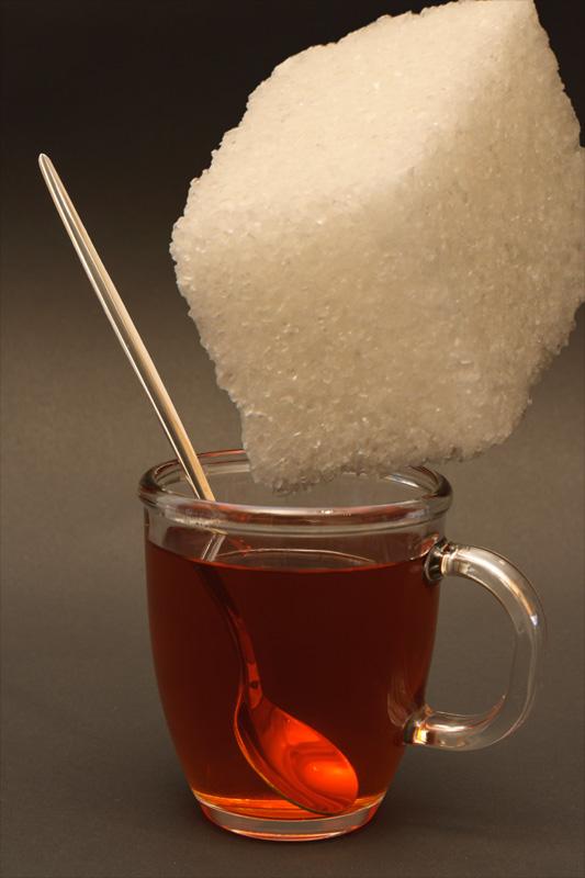 Чае с сахаром фото