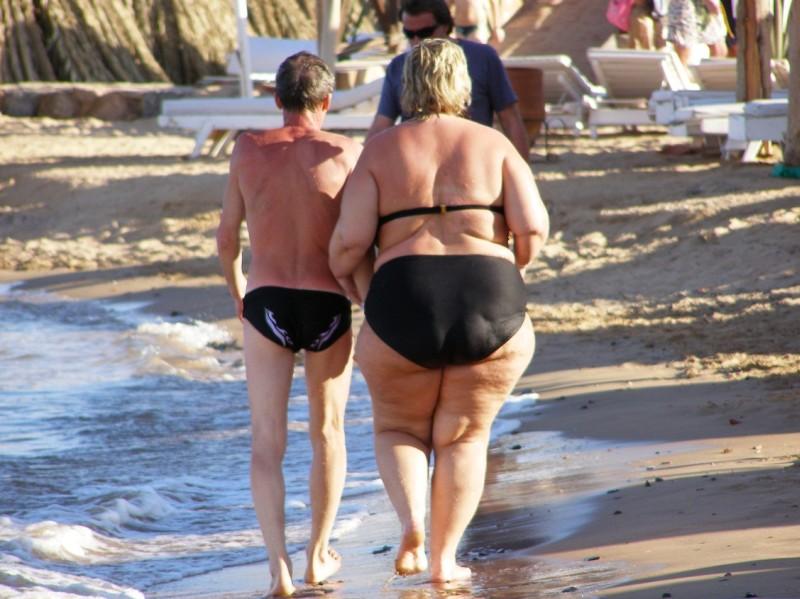 толстый мужик и худая порно