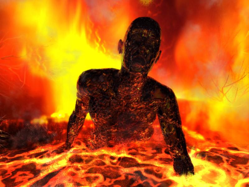 Картинка человек в аду