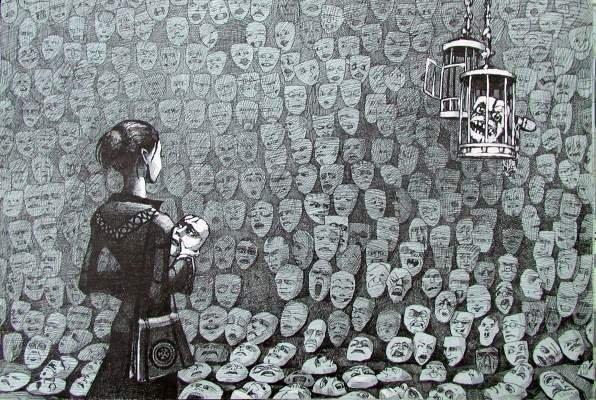 Коллекция масок жизни одного человека