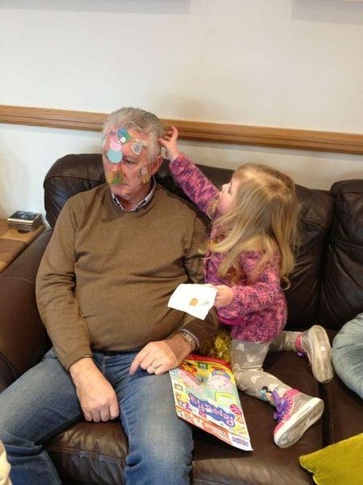 Счастья, прикольные картинки про дедов и внуков