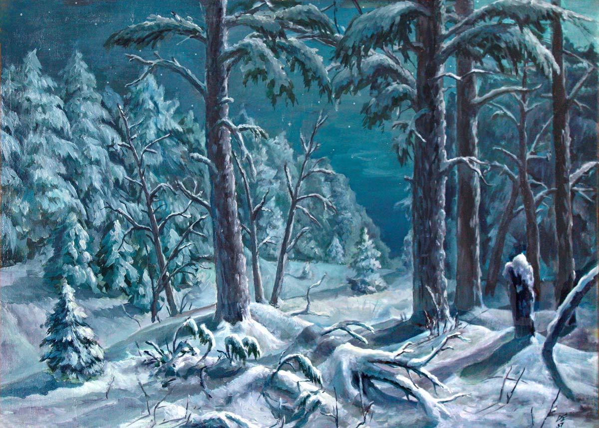Зимния сказка лес картинки