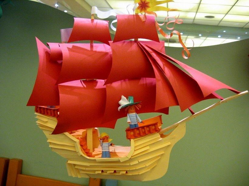 Летучий корабль своими руками из бумаги 97