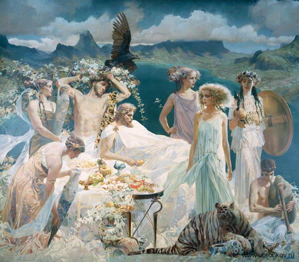 Древний олимп боги картинка