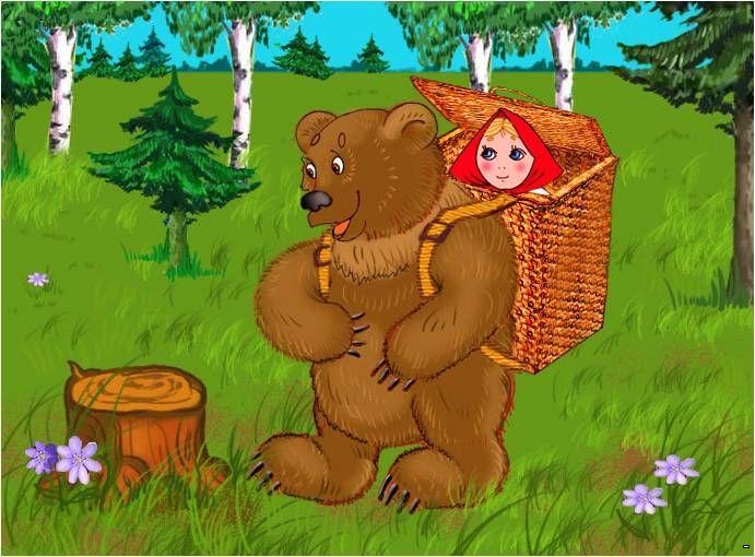 Сказка маша и медведь картинки анимации, картинки новым