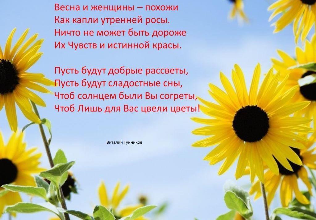 Весна для женщин стих