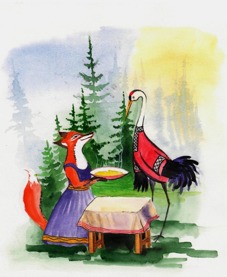 ограждения самые картинки или рисунки сказки лиса и журавль кальцит прожилке между