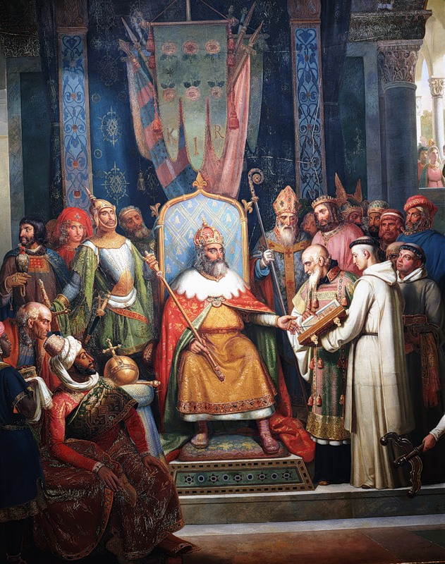 the life and times of frankish king and roman emperor charlemagne Leader of the saxons against the frankish king charlemagne (later emperor in his daily life charlemagne as charles i, holy roman emperor (800.