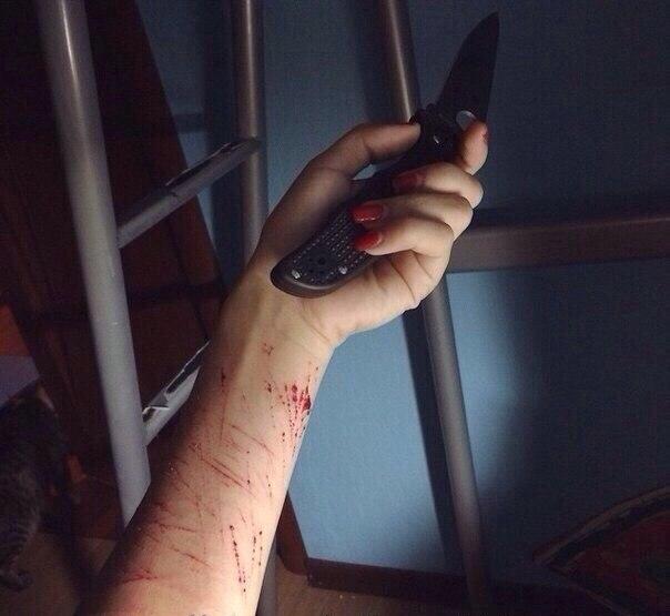 Как сделать порез ножом