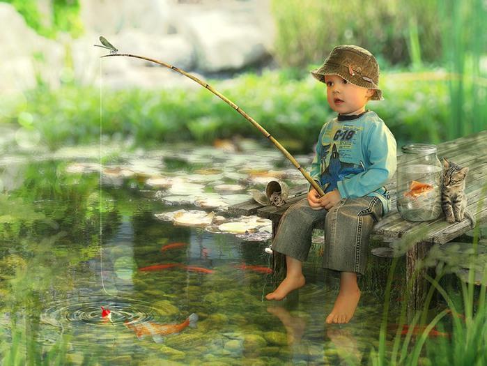 три мальчика были на рыбалке