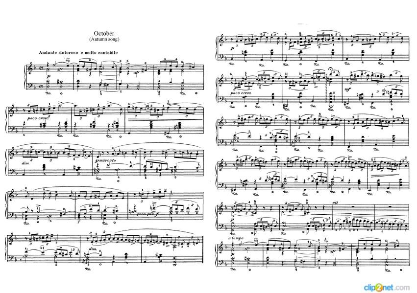 tchaikovsky autumn song score points