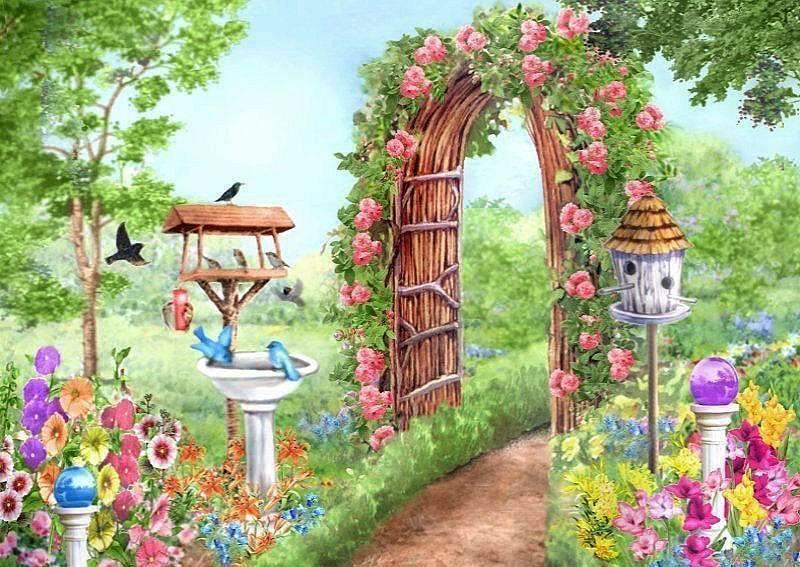 Рисунки в саду