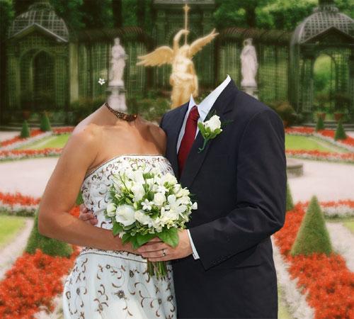 Как сделать свадебное вшопе